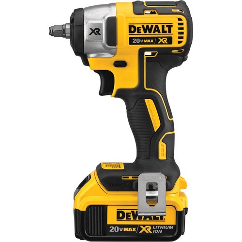 DEWALT 20V MAX Lithium-Ion Cordless 3/8in. Compact Impact Wrench Kit  Hog Ring Anvil, 150 Ft.-Lbs. Torque, 2 Batteries, Model# DCF890M2