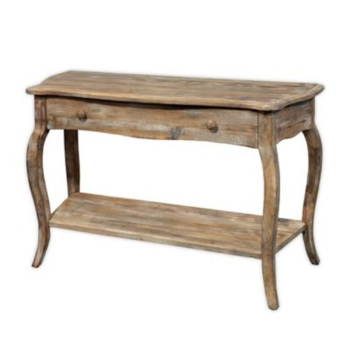 Alaterre Rustic Media/Console Table in Driftwood