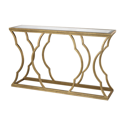 Dimond Home Coffee, Console, Sofa & End Tables LS Dimond Home Brown Metal Cloud Console