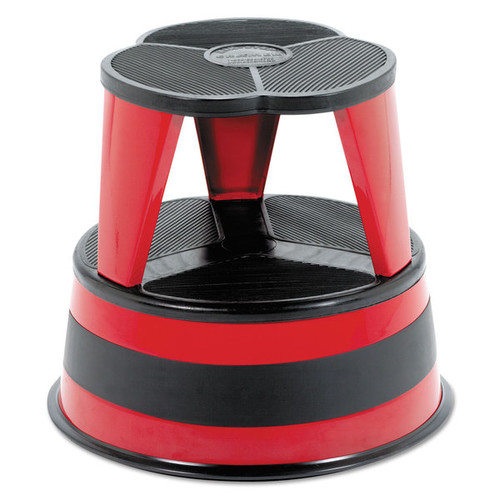 Cramer Kik-Step Steel Step Stool 350 -pound Capacity 16-inch diameter x 14 1/4-inch high Red