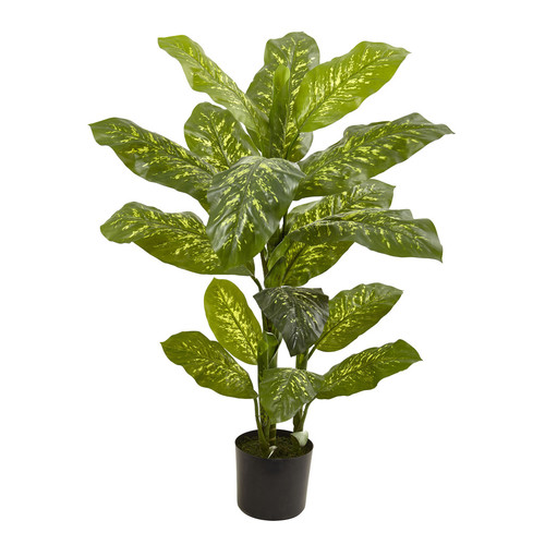 Nearly Natural 4 Dieffenbachia Plant (Real Touch)