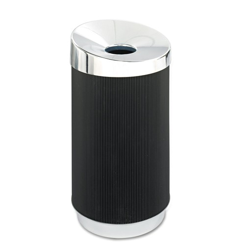 Safco Products 9799BL At-Your-Disposal Vertex Waste Receptacle, 38-Gallon, Black [38-Gallon Vertex]
