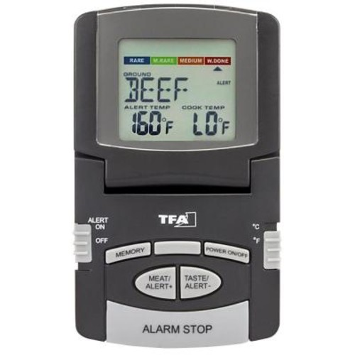 TFA Digital Meat Thermometer with Foldable Display and Magnet