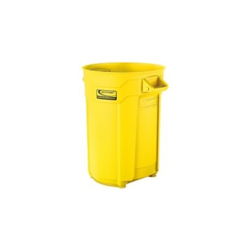 Suncast Commercial Utility Trash Can 44 Gallon, Yellow (BMTCU44Y)