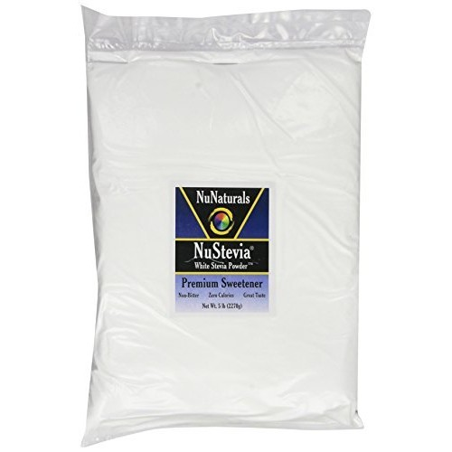 NuNaturals - NuStevia - White Stevia Powder - All-Purpose Sweetener - 5 Pound