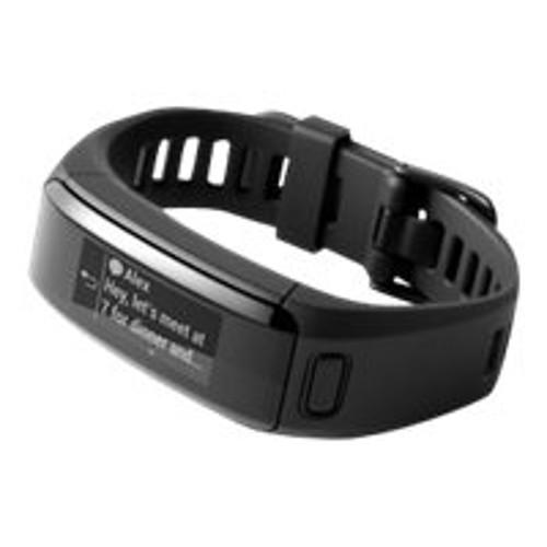 Garmin International vvosmart HR - Activity tracker - 5.35 in - 7.36 in - Regular - monochrome - Bluetooth, ANT/ANT+ - 1.04 oz - black (010-01955-06)
