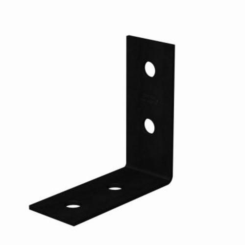 Simpson Strong-Tie 7 in. x 3 in. 3-Gauge Black Powder-Coat Heavy Angle