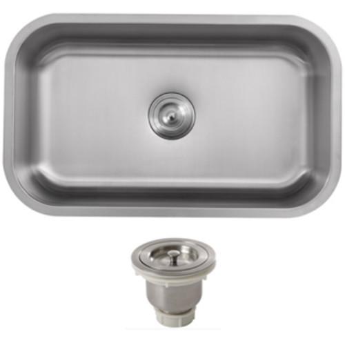 Ticor 31.5-inch Stainless Steel 16-gauge Undermount Single Bowl Kitchen Sink