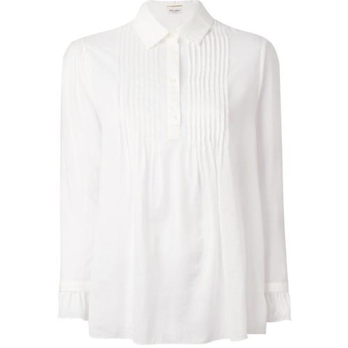 SAINT LAURENT Pleated Bib Shirt