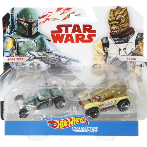 Hot Wheels Star Wars Episode 8 1:64 Scale Character Cars - Boba Fett and Bossk