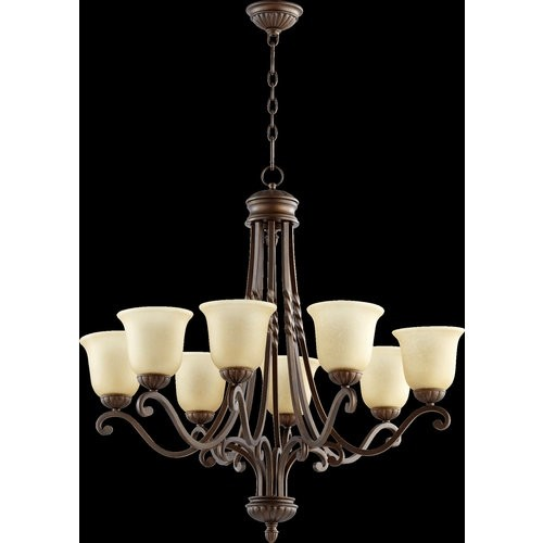 Quorum International 6078-8 Tribeca II 8 Light 1 Tier Chandelier