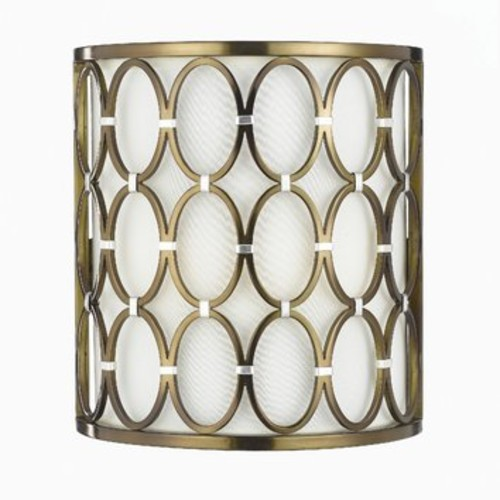 Candice Olson 8220-2W Cosmo Satin Brass Wall Sconce