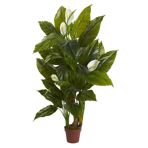 nearly natural Artificial Spathyfillum Plant