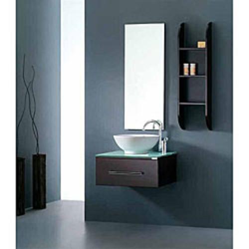 Wyndham Collection Esprit 20-inch Gray Pedestal Vanity, White Stone Top, Pyra Porcelain Vessel Sink, 20-inch Mirror