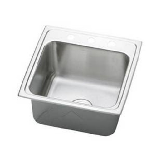 Elkao|#Elkay PLA1919100 Elkay 18 Gauge Stainless Steel 19.5 Inch x 19 Inch x 10.125 Inch single Bowl Top Mount Laundry/Utility Sink, No Faucet Holes,