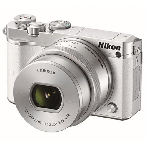 Nikon 1 J5 Mirrorless with NIKKOR 10-30mm f/3.5-5.6 VR Lens, White 27708