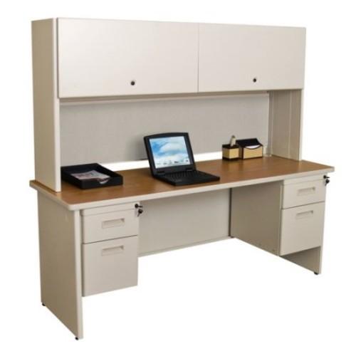 Marvel Pronto 72 in. Double File Desk Credenza Including Flipper Door Cabinet