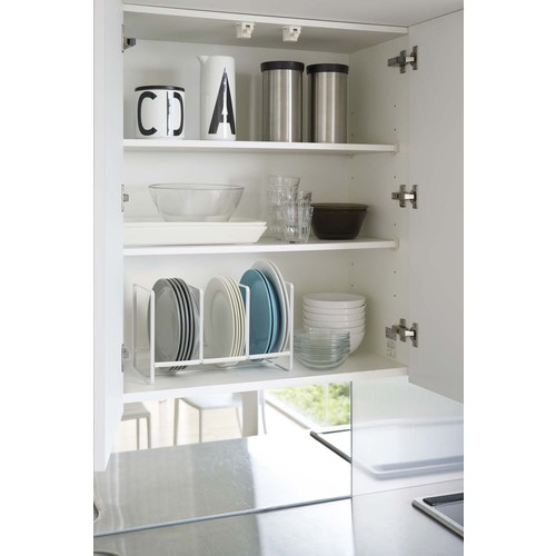 Tower Dish Storage Rack Wide Large in Various Colors design by Yamazaki - White