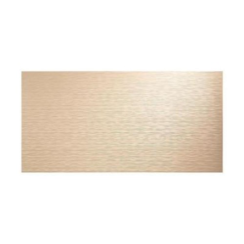 Fasade Ripple Horizontal 96 in. x 48 in. Decorative Wall Panel in Almond