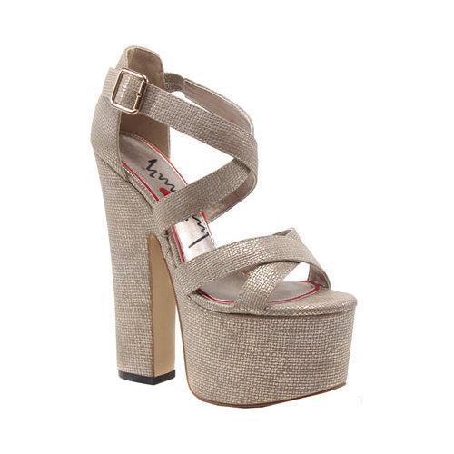 Women's Luichiny Jaw Dropper Platform Sandal Gold Imi Leather [Shoe Width : m (regular)]