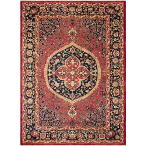 Astoria Grand Montague Hand-Knotted Red/Black Area Rug