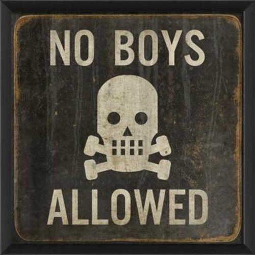 Blueprint Artwork No Boys Allowed Framed Graphic Art
