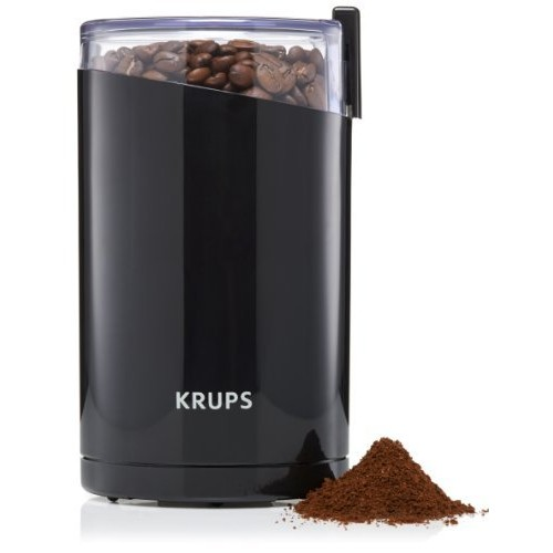 KRUPS F203 Electric Spice and Coffee Grinder with Stainless Steel Blades, 3-Ounce, Black [Blade Grinder]