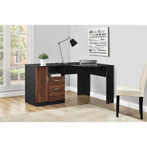 Altra Furniture Avalon Black Desk with Storage