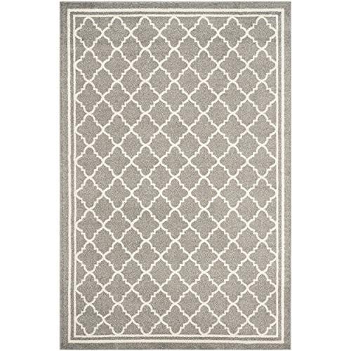 Safavieh Amherst Collection AMT422R Dark Grey and Beige Indoor/ Outdoor Area Rug