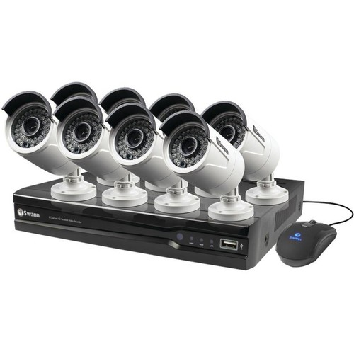 Swann Communications Professional 8-Channel NVR Security System with 8 Cameras, Model# SWNVK-873008-US