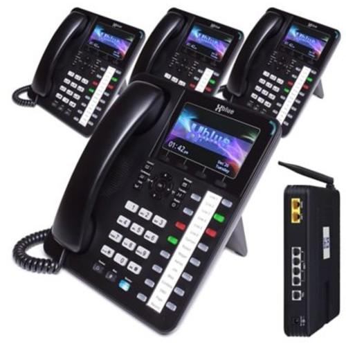 X2544 XBLUE X25 VoIP System Bundle with (4) X4040