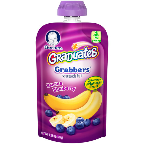 Gerber Graduates Banana Blueberry Grabbers 4.23 oz