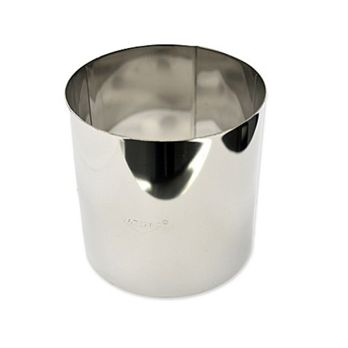 Paderno World Cuisine 6.5-Inch Stainless Steel Tall Pastry Ring