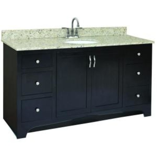 Design House Ventura 60 in. W x 21 in. D Unassembled Vanity Cabinet Only in Espresso