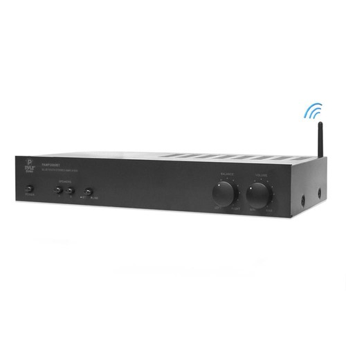 Pyle High Power Two Channel Audio Amplifier w/Built-in Bluetooth for Wireless Music Streaming