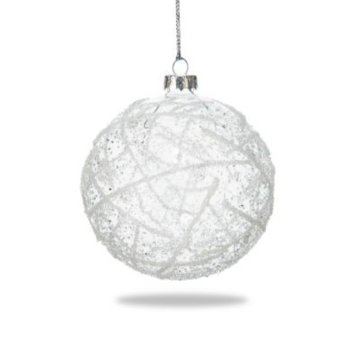 Icy Clear Glass Ornament