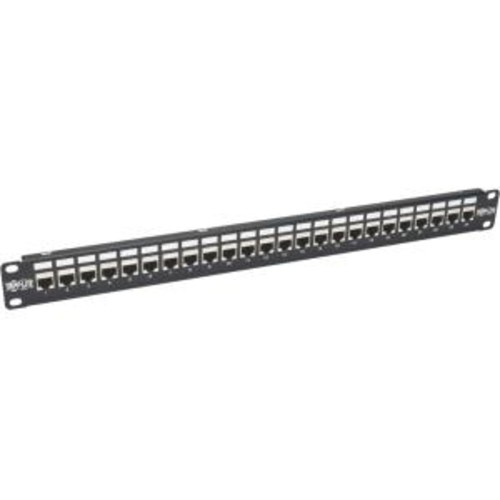 Tripp Lite 24-Port Cat6a Patch Panel Shielded Feedthrough Rackmount RJ45 1U