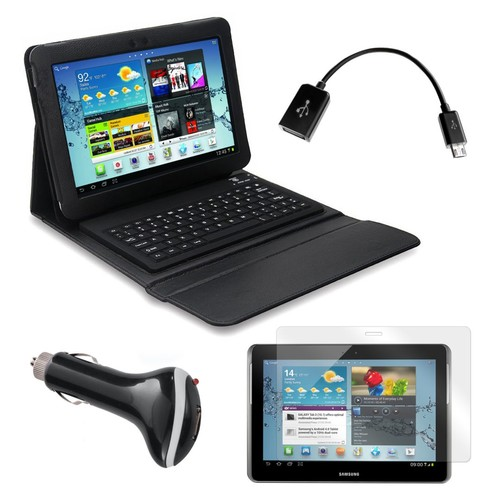 Mgear Accessories Bluetooth Keyboard Folio with OTG Cable and More for Samsung Galaxy Tab 2, 10.1