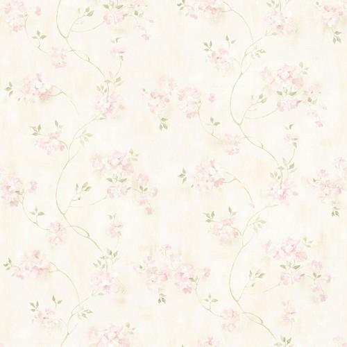 Chesapeake Rosemoor Pink Country Floral Wallpaper