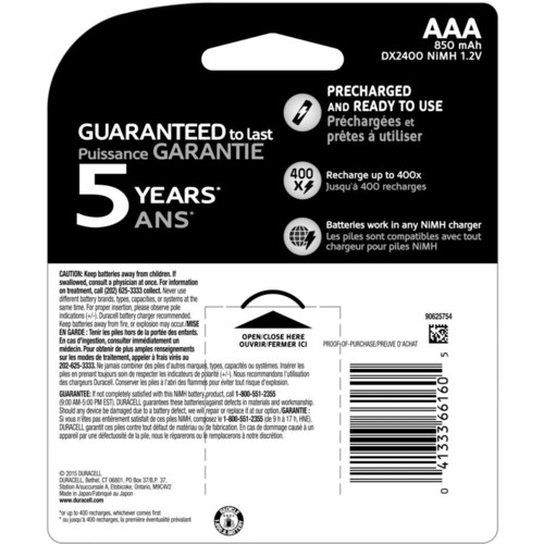 Duracell Rechargeable AAA Batteries - 4 ct [4 AAA]