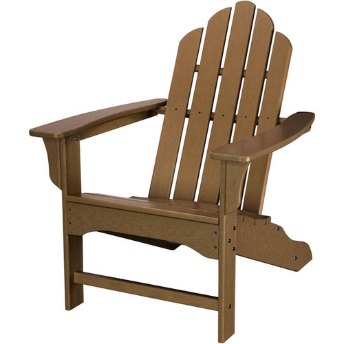 Hanover Outdoor Teak HDPE All-weather Contoured Adirondack Chair