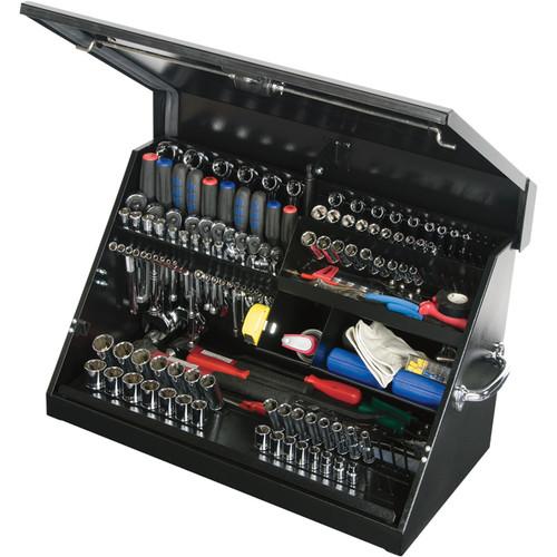 Montezuma Steel Open Top Tool Truck Box  Black, 30in.W x 15in.D x 18 1/8in.H