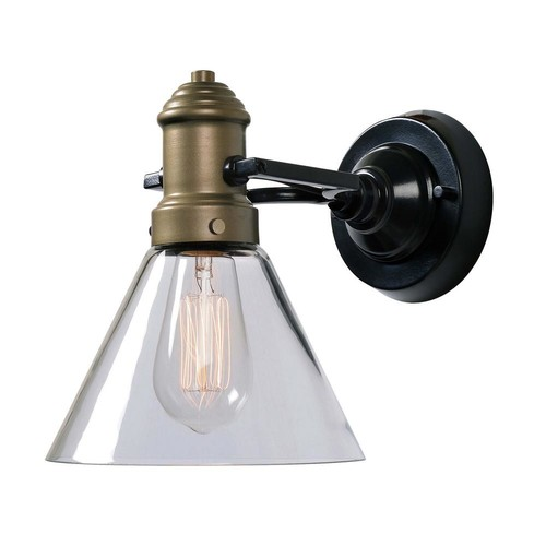 Kenroy Home Outlook 1-Light Antique Brass Wall Sconce