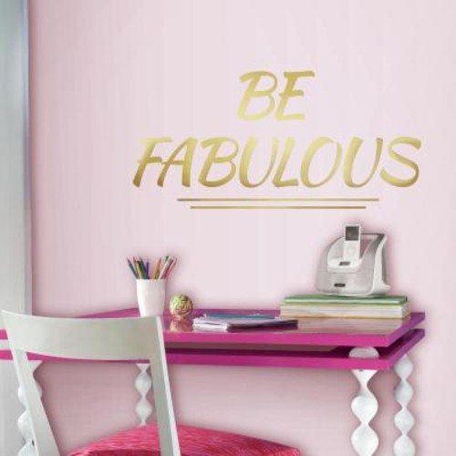 RoomMates 5 in. x 11.5 in. Be Fabulous Quote 8-Piece Peel and Stick Wall Decal