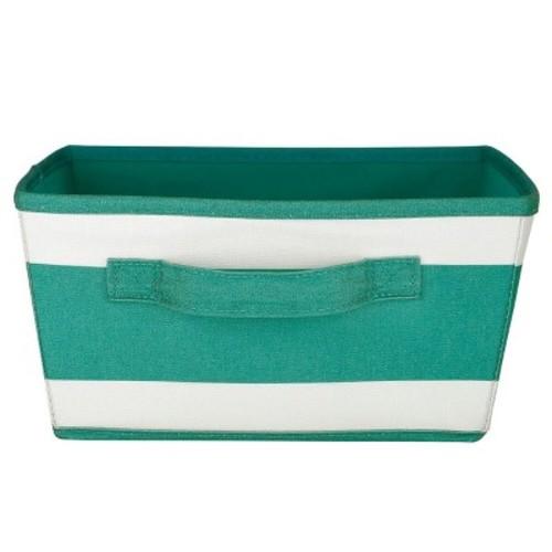 Stripe Storage Bin (Small) Green & White - Pillowfort