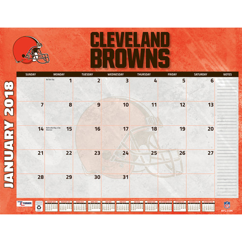 Turner 2018 NFL Cleveland Browns Desk Calendar