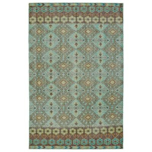 Kaleen Relic Turquoise 8 ft. x 10 ft. Area Rug