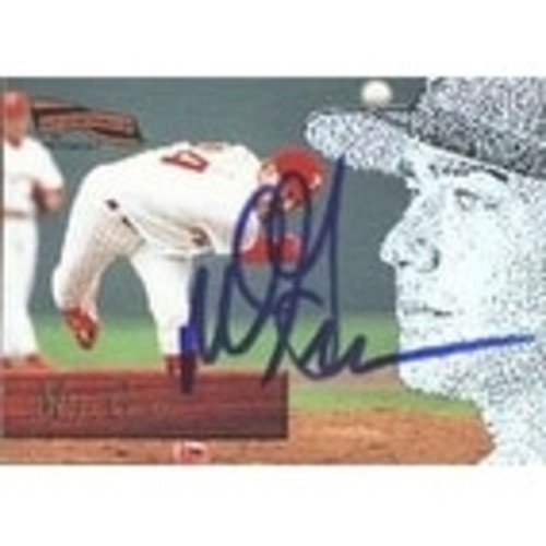 Mike Grace Philadelphia Phillies 1996 Pinnacle Aficionado Rookie Autographed Card Rookie Card Nic