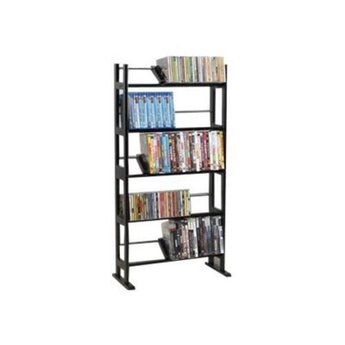 Atlantic Element 230-CD Media Rack, 230 CD or 150 DVD/Blu-ray Disc(R) capacity, Contemporary wood & metal design, 35535601