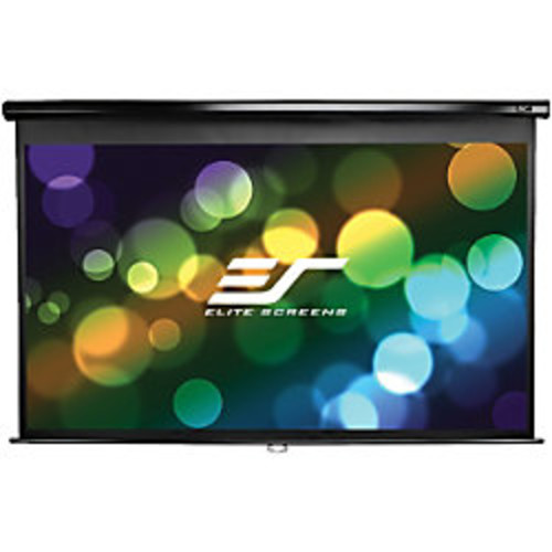 Elite Screens M100XWH-E24 Manual Ceiling/Wall Mount Manual Pull Down Projection Screen (100